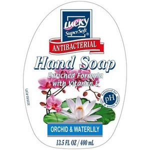 Lucky SuperSoft Antibacterial Hand Soap, Orchid & Waterlily