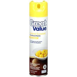 Great Value Lemon Scent Furniture Polish
