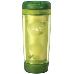 Lock & Lock Green Laurel Double Wall Tea Bottle 1.9 cup
