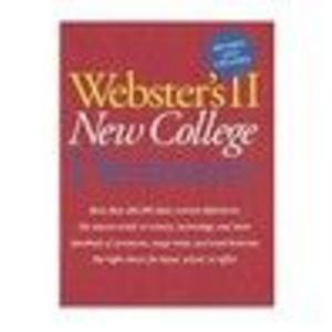 Houghton Mifflin Harcourt Webster's II College Dictionary