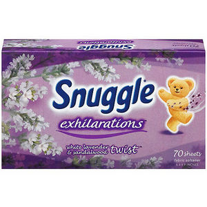 Snuggle Exhilarations White Lavender & Sandalwood Dryer Sheets