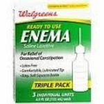 Walgreens Ready to Use Saline Laxative Enema