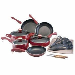 Paula Deen Signature Porcelain 17-Piece Cookware Set