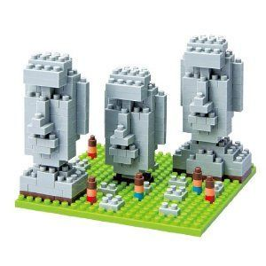 Nanoblock Moai Statues on Easter Island