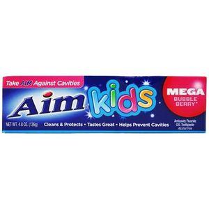 Aim Kids Mega Bubble-Berry Toothpaste