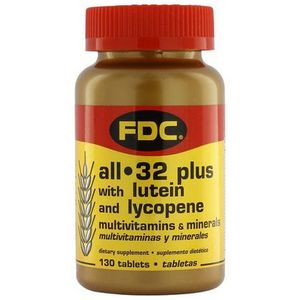 FDC All 32 Plus Multivitamins and Minerals with Lutein and Lycopene
