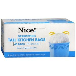 Nice! Drawstring Tall Kitchen Bags