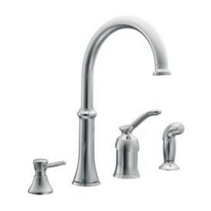 Moen Quinn Chrome Kitchen Faucet with Side Spray