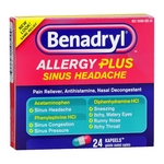 Benadryl Allergy Plus Sinus Headache Kapgels