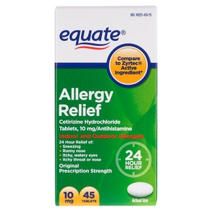 Equate Allergy Relief 24 Hour Indoor & Outdoor Tablets