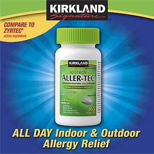 Kirkland Signature Aller-Tec Cetirizaine Tablets