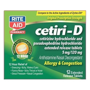 Rite Aid Cetiri-D Allergy Medication