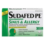 Sudafed PE Sinus and Allergy
