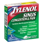 Tylenol Sinus Congestion & Pain Nighttime Caplets