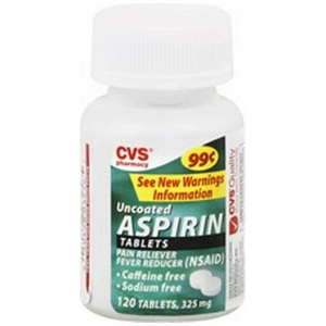 CVS Uncoated Aspirin