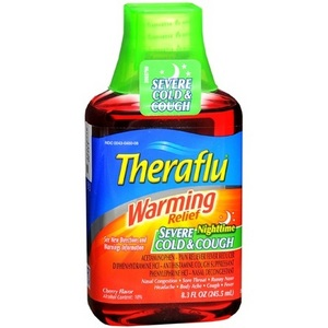 Theraflu Warming Relief Nighttime Severe Cold & Cough Syrup