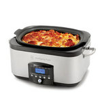 Wolfgang Puck 6-Quart Electronic Multi-Cooker with Dual Heating Elements