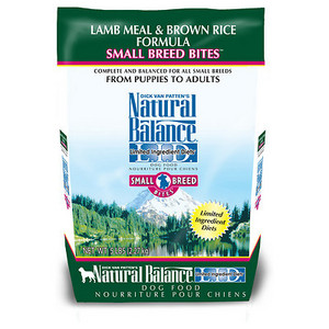 Natural Balance L.I.D. Limited Ingredient Diet Lamb Meal & Brown Rice Small Breed Bites Dry Dog Food