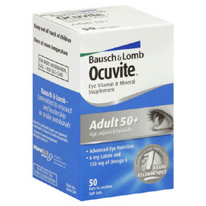 Bausch + Lomb Ocuvite Eye Vitamin & Mineral Supplement