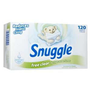 Snuggle Free Clear Fabric Softener Sheets