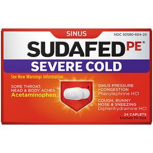 Sudafed PE Severe Cold
