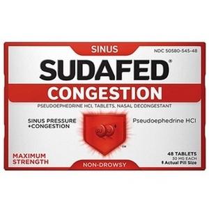 Sudafed Congestion Tablets