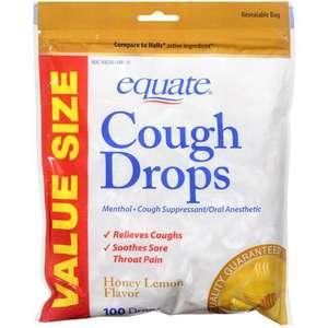 Equate Honey Lemon Flavor Cough Drops