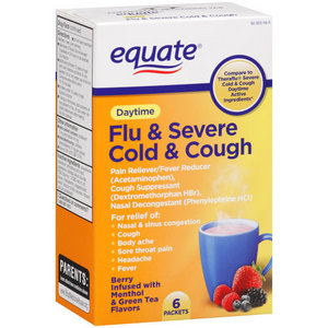 Equate Daytime Flu & Severe Cold & Cough Medicine