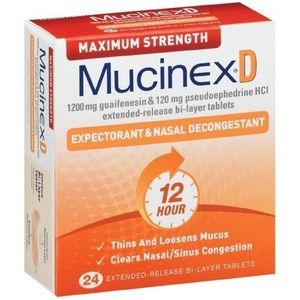 Mucinex D Maximum Strength Expectorant & Nasal Decongestant