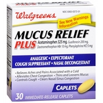 Walgreens Mucus Relief Plus Acetaminophen Immediate-Release Caplets