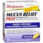 Walgreens Mucus Relief Plus Acetaminophen Immediate-Release Caplets