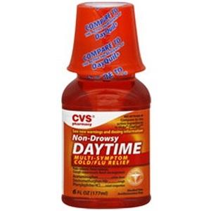 CVS Non-Drowsy Daytime Multi-Symptom Cold/Flu Relief Liquid