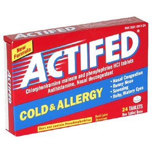 actifed Cold & Allergy Relief Tablets