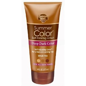 Banana Boat Summer Color Self-Tanning Lotion, Deep Dark Color