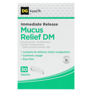 DG Guarantee Immediate Release Mucus Relief DM