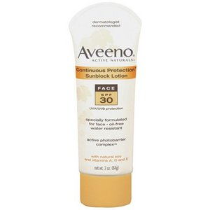 Aveeno Active Naturals Continuous Protection Sunblock with SPF 30 for Face