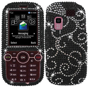 RM Trading - Bling Rhinestone Diamond Crystal Case Cover for Samsung Gravity 2