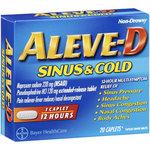 Aleve-D Sinus & Cold Caplets Multi-Symptom Relief