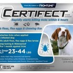 Certifect For Dogs - 23-44 Lbs, 3 Month Supply