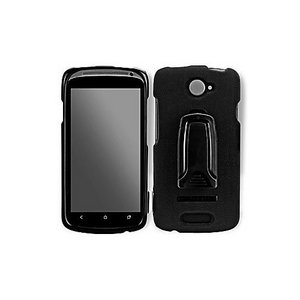 Body Glove Hard hield Shell Cover Snap On Case With Kickstand and Belt Clip for HTC One S