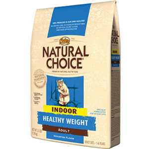 Nutro Natural Choice Healthy Weight Indoor Formula Ocean Fish Adult Dry Cat Food