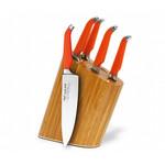 Rachael Ray Furi Gusto-Grip Forged Bamboo Knife Block Set