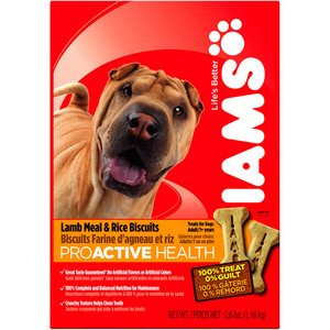 Iams ProActive Health Adult Lamb Meal & Rice Biscuits
