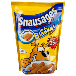 Snausages In a Blanket - Beef & Cheese