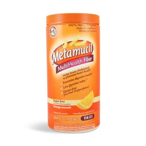 Metamucil Orange Smooth Texture Sugar Free Multi-Health Fiber