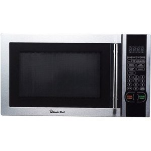 Magic Chef 1.1 Cubic Feet 1000-Watt Stainless Microwave with Digital Touch