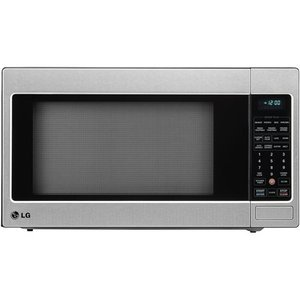 LG 2.0 Cu Ft Counter Top Microwave Oven With True Cook Plus and EZ Clean Oven, Stainless Steel - Optional Trim Kit Available