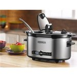 KitchenAid Stainless Steel QT. Slow Cooker with Flip Lid