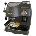 Espressione Cafe Roma Deluxe Espresso Machine with Built-in Grinder, Anthracite Grey