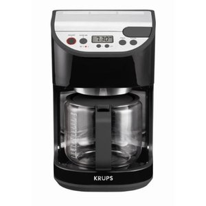 Krups 12-Cup Precision Coffee Maker with Glass Carafe, Black